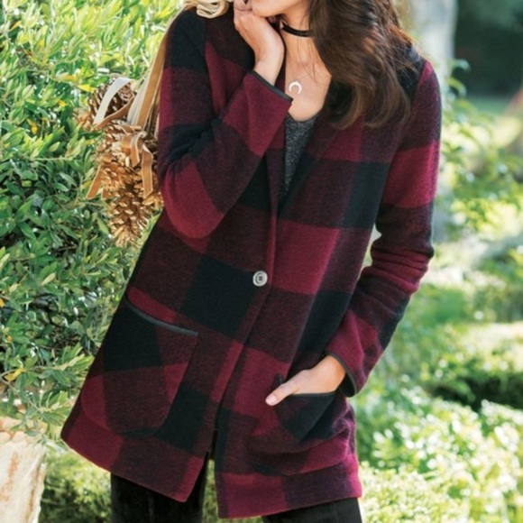 Soft Surroundings Jackets & Blazers - Soft Surroundings Hardey Buffalo Plaid Jacket M